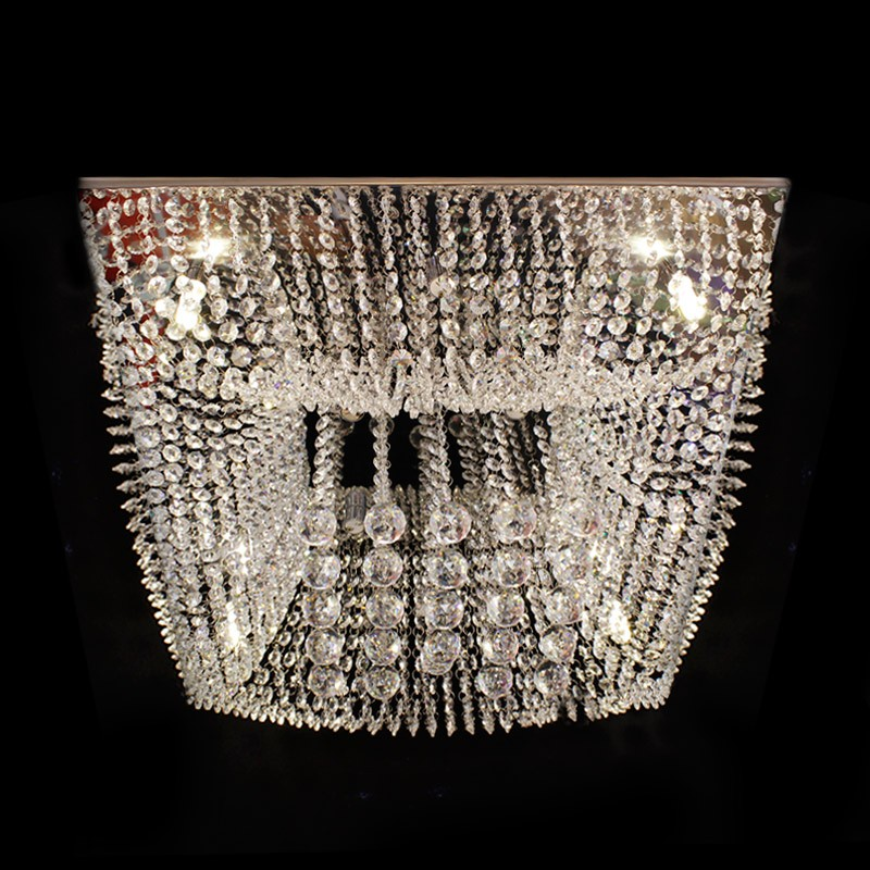 lustre cristal plafon quadrado 60x60x20cm jp kyoto 60. Black Bedroom Furniture Sets. Home Design Ideas