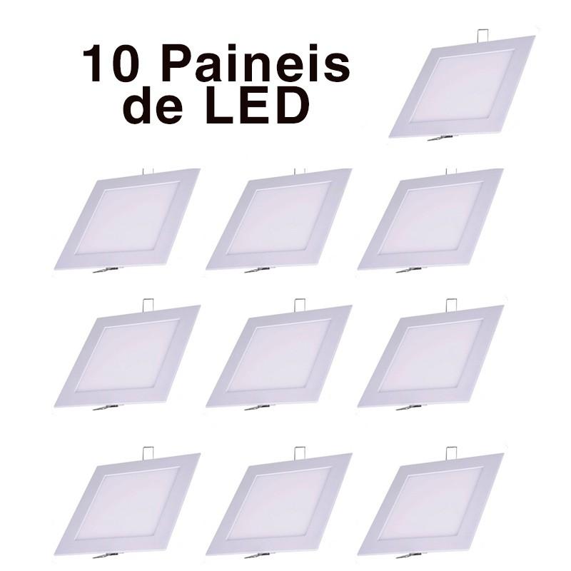 painel plafon luminaria led quadrado sobrepor ultra sl