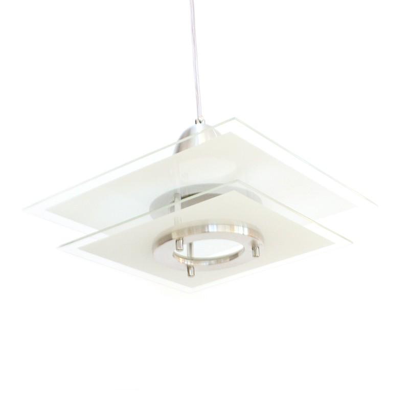 Luminária De Teto Quadrada Branca Para 1 L u00e2mpada E27 Hunter trade