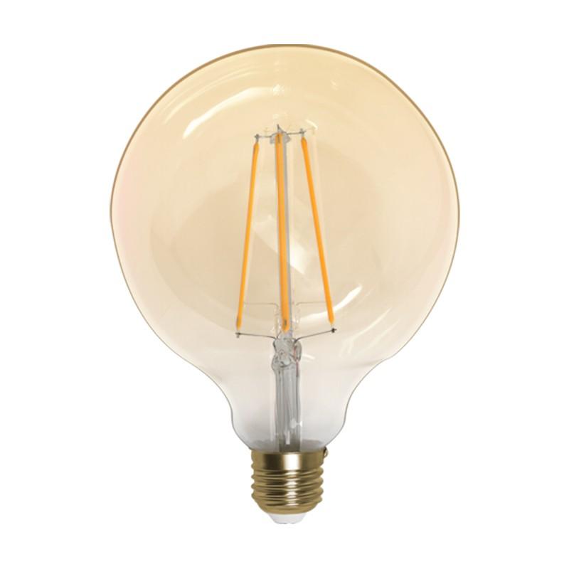 Lampada globo g120 filamento carbono led 4w bivolt 2200k for Lampada globo