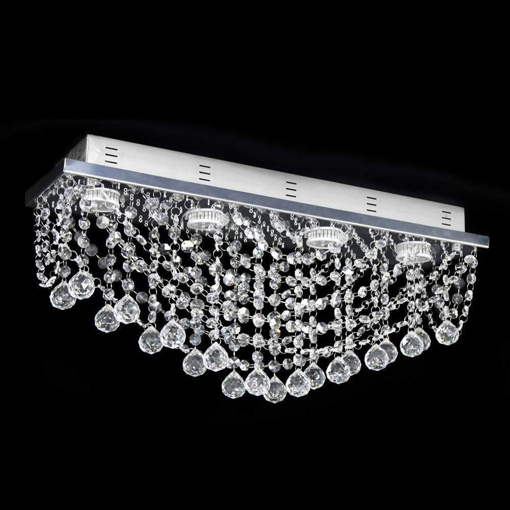 lustre de cristal original esfera plafon retangular. Black Bedroom Furniture Sets. Home Design Ideas